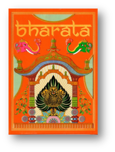 Bharata Playing Cards Rare Indian Deck Holographic Gold Gilded Poker Spielkarten