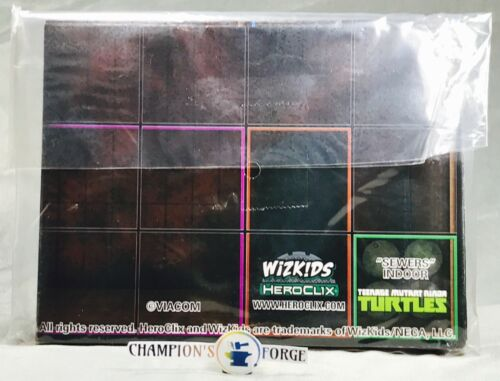 """Heroclix TMNT Series 1 Set /""""Sewers/"""" Indoor Map LE"""