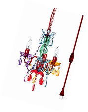 "The Original Gypsy Color 3 Light Mini Plug-in Gypsy Chandelier H16"" W13"", Red Me"