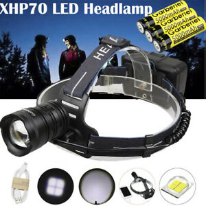 300000LM-XHP-70-LED-Headlamp-Zoom-USB-Rechargeable-18650-Headlight-Super-Bright