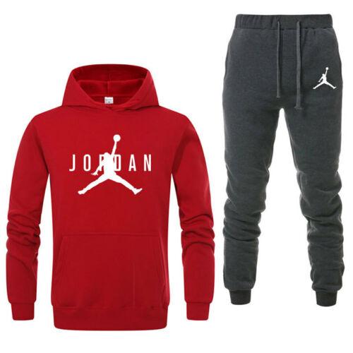 Hommes Sport Costume Sweat à Capuche Pantalons Survêtement 2 pièces Jogging Suit