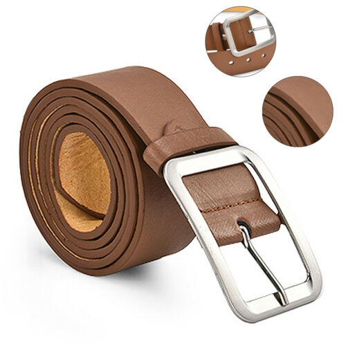 Luxury New Mens PU Leather Belts Buckle Belt Jeans Trouser Waistband Waist Strap