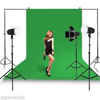 Studio Green Screen Chromakey Backdrop 1.6 x 3 m Muslin Video Photo Background