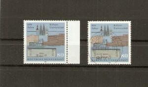 BUND-1988-2x-Michel-1370-postfrisch-RANDSTUCK-gestempelt-Muenchen-12-12-88-BRD