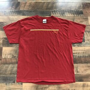 636d97eeb35a8 Details about Vintage Nike Short Sleeve Red T-Shirt Mens Size XL 90s Spell  Out VTG Nike Tee