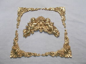 Mirror Frame Or Picture Frame Ornate Corners And Cherubs Gold Ebay