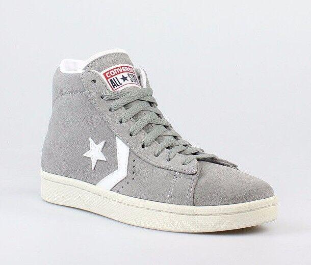 NIB Converse Pro Leather Mid Suede Phaeton Grey 135707C US Mens 10