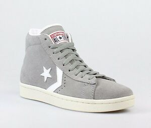 super popular f5651 9363b Details about NIB Converse Pro Leather Mid Suede Phaeton Grey 135707C US  Mens 10