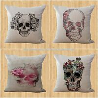 Wholesale 4pcs Sugar Skull Day Of The Dead Cushion Cover Decorative Pillows