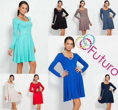 Classic /& Sensible Women/'s Dress V Neck Long Sleeve Tunic Sizes 8-18 Y8467