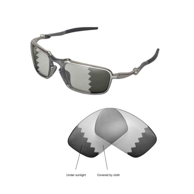 a17d19251039e Walleva Polarized Transition Replacement Lenses for Oakley Badman  Sunglasses