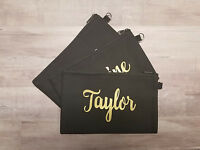Personalized Makeup Bag - Zippered Cosmetic Bag Customized With Name Or Monogram