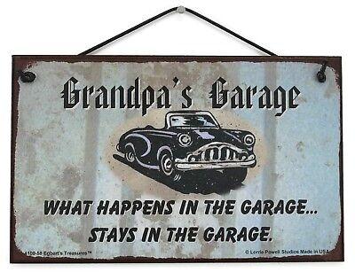 Paw Paw/'s Garage 5x8 Sign Happens Stays Man Cave Classic Chevy Shop Car Workshop