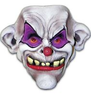 Toofy The Clown Mask Circus Scary Killer Fancy Dress Halloween Costume Accessory