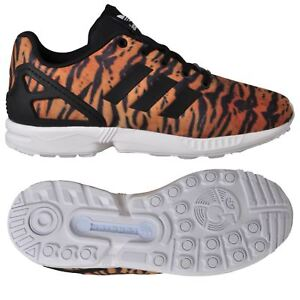 2ecbff91c Image is loading adidas-ORIGINALS-ZX-FLUX-KIDS-TRAINERS-TIGER-PRINT-