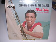 Alfred Apaka Sing Me A Song of the Islands Decca DL 78960 VG / VG