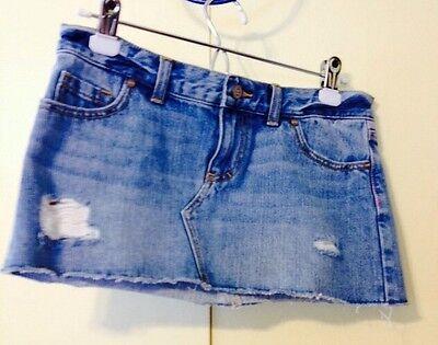 Pink By Victoria's Secret Women's 2 Denim Mini Skirt Distressed NWT