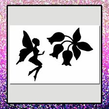 4 X 6 Fairy Girl w Spring Flowers Craft STENCIL Fantasy/Whimsical/Floral