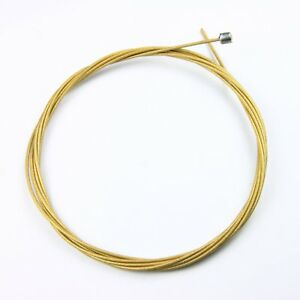Zeno Diamond Teflon Shifter Cable Gold For Road