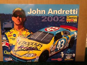 NASCAR John Andretti 2002 Signed Promo Card 8 1/2 X 11 PSA DNA