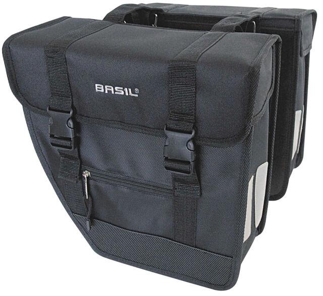 BASIL Doppeltasche TOUR schwarz 26L