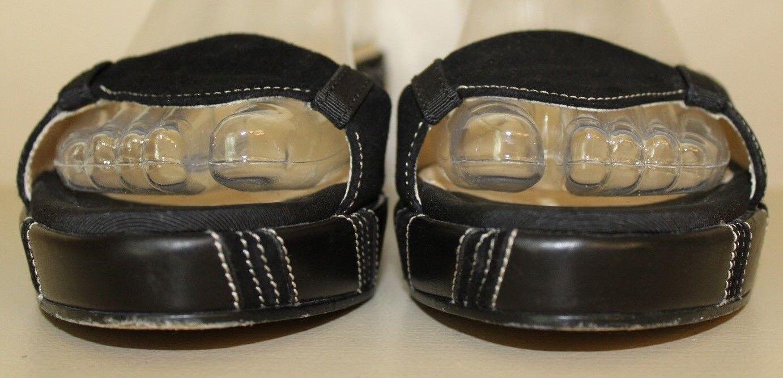 Salvatore Ferragamo Damenschuhe Open Sandale Sz 8.5 B Open Damenschuhe Toe Suede & Leder Wedge Schuhes 88e455