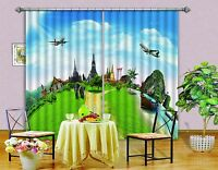 3d Travel Sites Blockout Photo Curtain Printing Curtains Drapes Fabric Window Au