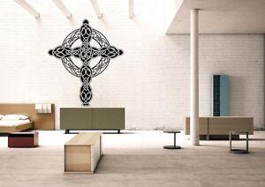 Wall-Room-Decor-Art-Vinyl-Sticker-Mural-Decal-Celtic-Rood-Crucifix-Cross-FI1042