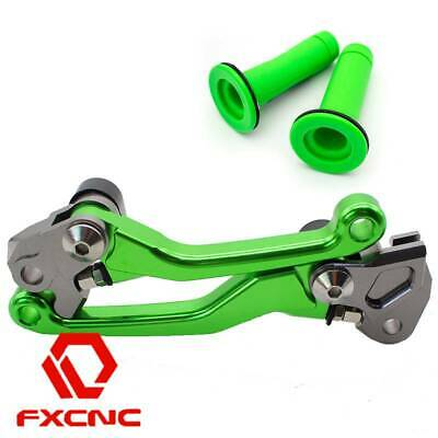 FXCNC Pivot Brake Clutch Lever Dirt Grips For Kawasaki KX125 KX250 2000-2004
