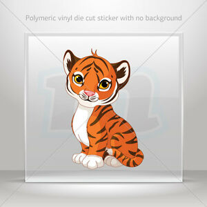 Stickers Decal Baby Tiger Helmet Atv Bike polymeric vinyl Garage st5 X2W85