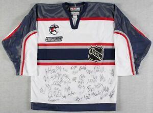 2000-NHL-All-Star-Game-Signed-Jersey-30-Sigs-Jagr-Brodeur-Roenick-Bourque-JSA