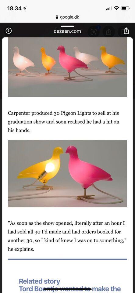 Væglampe, Ed Carpenter