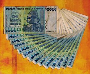 50 Billion Zimbabwe Dollars x 15 Bank Notes Lot ~ AB 2008 Series Currency Bundle