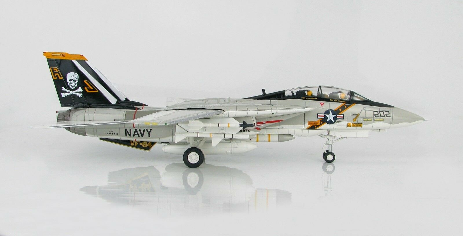 HOBBY MASTER 1 72 HA5211 GRUMMAN F-14A TOMCAT 160382 AJ 202, VF-84  JOLLY ROGERS