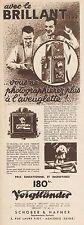 Y8627 Voigtlander - Appareil photo BRILLANT - Pubblicità d'epoca - 1933 Old ad