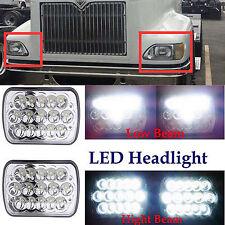 Pair 7x6 LED Headlights For International IHC Headlight Assembly 9200 9900 9400i