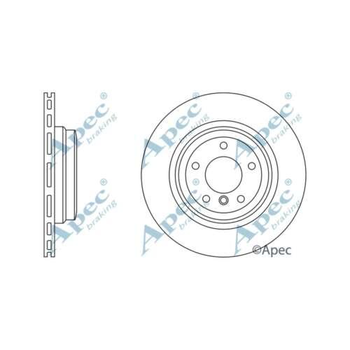 Si adatta BMW SERIE 3 E92 335d ORIGINALE OE Quality Apec Dischi Freno Posteriore Ventilato Set