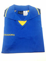 Sz M Diadora Trevi Youth Jersey Soccer Futbol Shirt Sport Italy Polo Multi Color