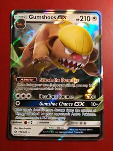Sun /& Moon Base Set - Near Mint Gumshoos GX Ultra Rare Pokemon Card