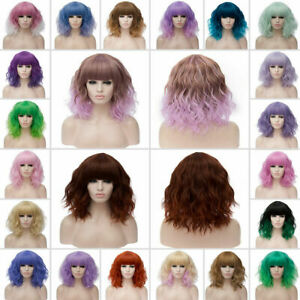 Lolita-Heat-Resistant-Wig-Anime-Short-Curly-Wavy-Synthetic-Hair-Cosplay-Party-US