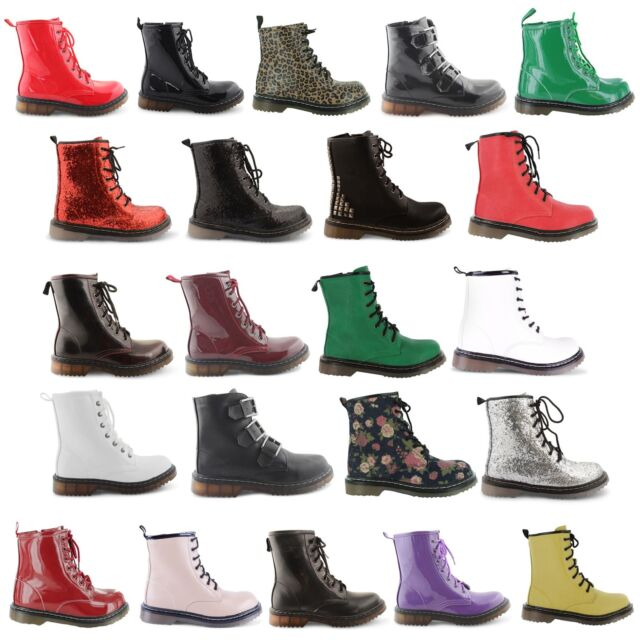 NEW LADIES VINTAGE RETRO GOTH PUNK LACE UP ANKLE BOOTS WOMENS SHOES SIZES UK 3-8