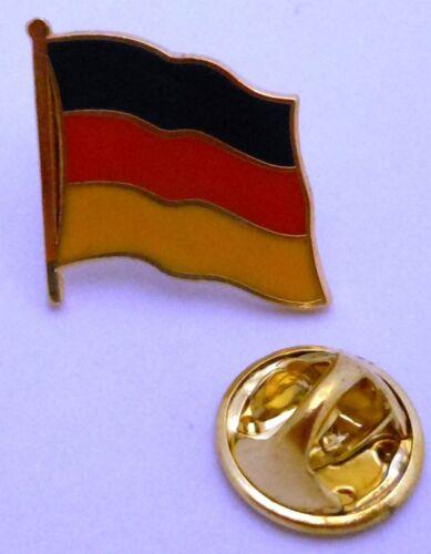 Pin // Anstecker National Fahne Flagge Vergoldet #18 Deutschland 20 mm