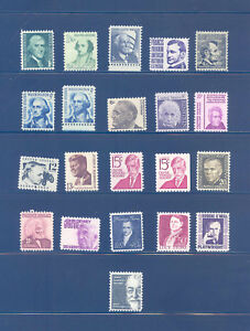 PKStamps-US-1965-79-Regular-Issues-1278-1295-Set-of-21-Stamps