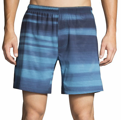 Liefern Brooks Sherpa 7 Inch Mens Running Shorts Blue Gym Training Sports Short