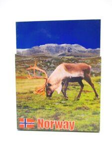 Norwegen-Flagge-Rentier-Elch-3D-Holz-Souvenir-Magnet-Skandinavien-Norway