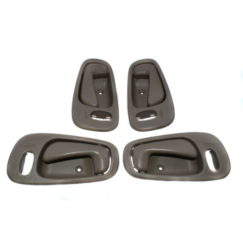 Beige Interior Door Handle Front Rear Right Left 4Pcs for 1998-02 Toyota Corolla