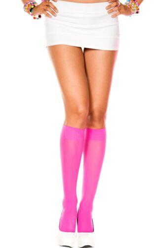 OPAQUE KNEE HIGH School Girl Stockings NEON PINK O//S