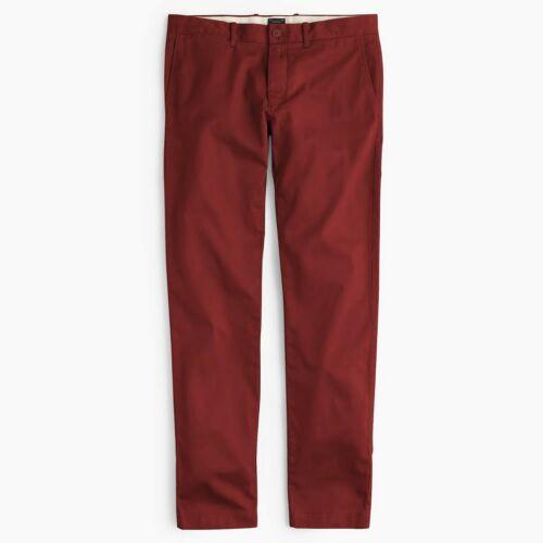 J.Crew 484 Slim Fit Stretch Chinos Mens Flat Front Khakis Cotton Blend Pants