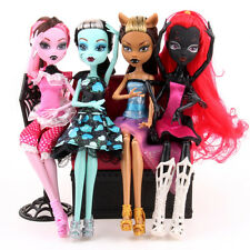 4pcs/lot Monster High Dolls Lot Moveable Joint Children Girl Best Gift Kids Toy