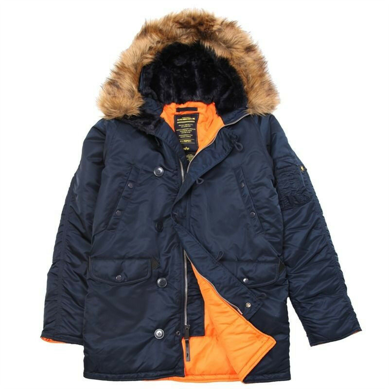 Blue Orange Parka